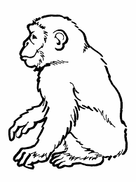 monkey outline clipartion com