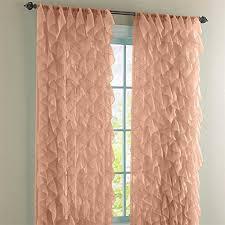 Shabby Chic Voile Curtains Shabby Chic Sheer Ruffled Curtain Panel