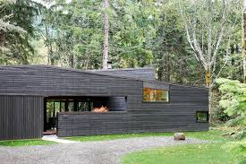 Modern Homes by 30 All Black Exterior Modern Homes Dwell