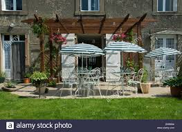 chambre d hote dans le limousin stock photo of restaurant tables outside of a chambre d hote in the