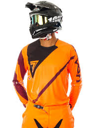 orange motocross gear seven mx florescent orange black 2017 rival fuse mx jersey seven