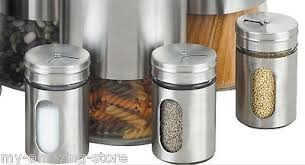 stainless steel canister kitchen storage containers set spice