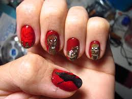 demilich nespithe freehand nail art by rainwound on deviantart