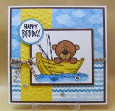 savvy handmade cards fishing happy birthday card