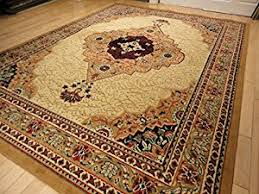amazon com large traditional beige 8x11 rug persian area rugs tan