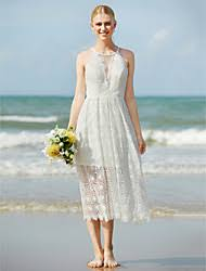 a line tea length wedding dress lightinthebox com