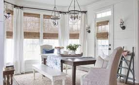 dining room blinds bamboo blinds with curtains in dining room natural exotic bamboo