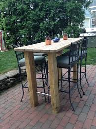 Patio Bar Height Tables We Wanted A Bar Height Table So Found An Picnic Table