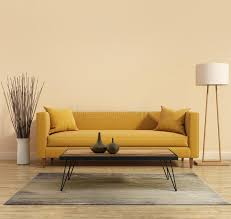 Yellow Sofa Bed Modern Modern Interior With A Yellow Sofa In The Living Room With