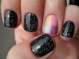black nail polish design 1000 ideas about glitter nail art on