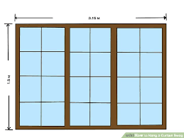 How High To Mount Curtain Rod How To Hang A Curtain Swag 9 Steps With Pictures Wikihow