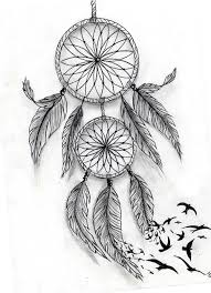 awesome flying birds and dreamcatcher tattoo design