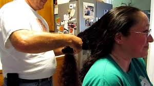 long curly hair cut shorter to shoulder length hit like for more