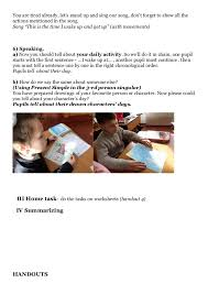 lesson plan telling the time daily routine 3 rd form