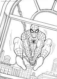 spiderman book coloring