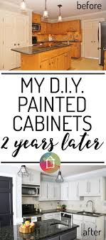 Hows It Holding Up DIY Painted Kitchen Cabinets Update - Diy painted kitchen cabinets