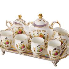 tea cup set tea sets white fashion coffee cup of pattern ceramic tea
