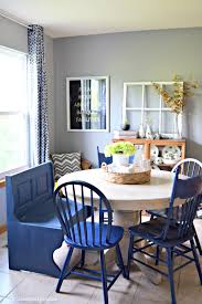 painted blue dining chairs