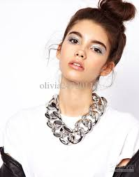 chunky chain choker necklace images 2018 ccb material hot chunky chain link choker necklace bold link jpg