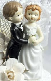 vintage style wedding cake topper figurine wedding collectibles