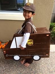 Truck Halloween Costume Ups Fedex Usps Family Costume Working