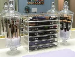 bathroom counter storage ideas countertop makeup storage bathroom