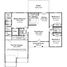 3 Bedroom 2 Bath House Plans Peaceful Design Ranch House Plans Three Bedroom Bath 13 Split 2