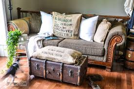 Funky Ottoman Funky Trunk And Bean Sack Ottomanfunky Junk Interiors
