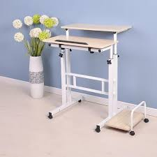 Sit Stand Desk Reviews Amazing Symple Stuff 2 Tier Sit And Stand Desk Reviews Wayfairca