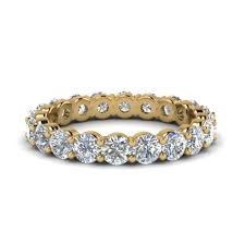eternity wedding bands 2 carat diamond eternity wedding band in 14k yellow gold