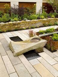 Wall Garden Planter by Stone Wall Garden Ideas Patio Contemporary With Long Rectangular