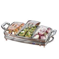 nostalgia electrics dbs 999 3 in 1 deluxe buffet server u0026 warming tray