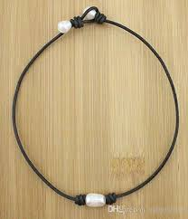 leather necklace with pearl images 2017 handmade necklace cultured freshwater pearl choker necklace jpg