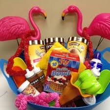 summer gift basket tropical treats gift basket this gift offers a cheerful yellow