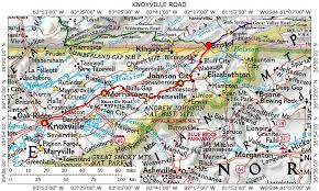 map of virginia and carolina historic roads paths trails virginia tennessee kentucky