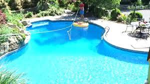 how to make a zipline into a pool backyard zipline youtube