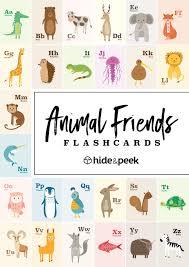 number and alphabet flashcards u2013 animals hide and peek nursery