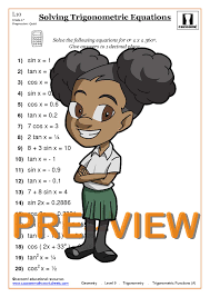 preview free solving trigonometric equations worksheets