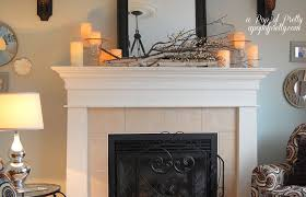 Rustic Mantel Decor Decorating Fireplace Mantel With Lanterns Interior Design Ideas