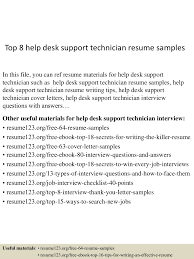 mechanic resume samples support technician resume top8helpdesksupporttechnicianresumesamples150528131641lva1app6891thumbnail4jpgcb1432819676