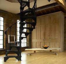 nice and appealing wrought iron spiral staircase designed for