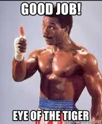 Eye Of The Tiger Meme - good job eye of the tiger apollo creed thumbs up meme generator
