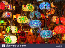 multi colored hanging lights multi colored ls hanging at the grand bazaar in istanbul turkey