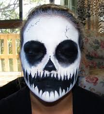 cool face painting for halloween skull face paint by kowaigirl on deviantart