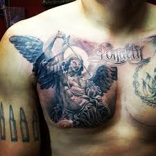 coolest small wing with bow on side chest warrior
