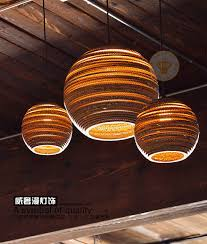 Zen Ceiling Light Creative Zen Corrugated Kraft Paper Pendant Light Hanging L