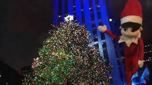 rockefeller christmas tree lighting and the elf on the shelf