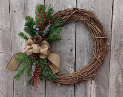 Decorating Christmas Wreath Ribbon by Front Door Wreath Winter Wreath Holiday Wreath Christmas Wreath