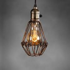 Retro Vintage Industrial L Covers Pendant Trouble Light Bulb