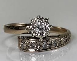 vintage diamond wedding band 18k white gold april